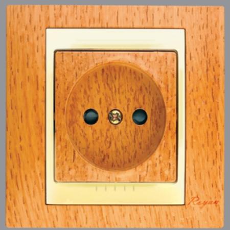 پریز برق ساده سیلویا طرح چوب رویان