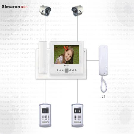 درب بازکن صوتی و تصویری مانیتور 7 اینچ 5 ورودی سیماران