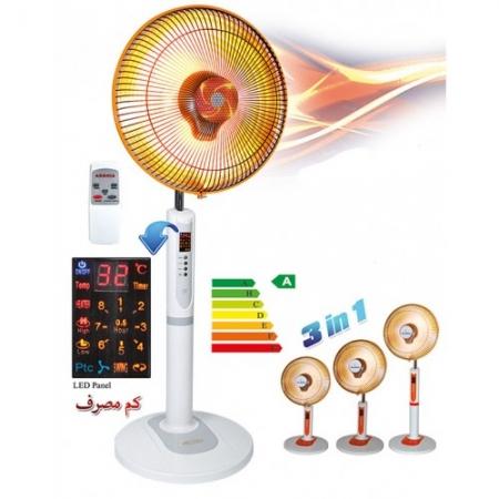 بخاری برقی هالوژنی فن دار ارشیا الکتریک