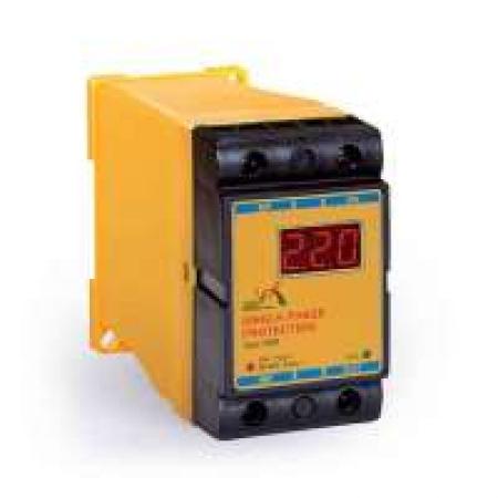 محافظ ولتاژ تکفاز دیجیتال(محافظ کولر گازی) رله های حفاظتی و مونیتورینگ برنا الکترونیک