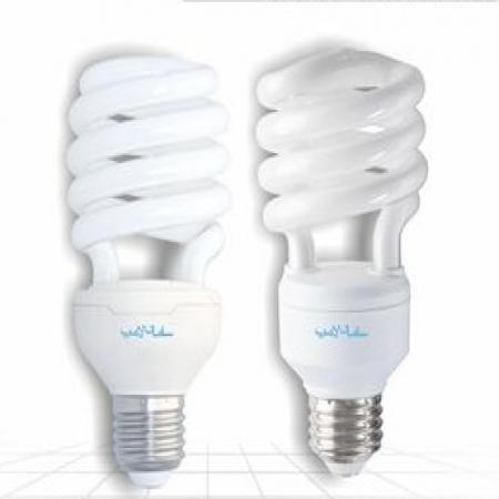 لامپ کم مصرف نیم پیچ سامان لامپ
