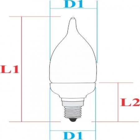 لامپ کم مصرف اشكي  10W سهند آوا یاران