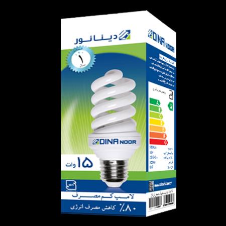 لامپ کم مصرف 15 وات دینا نور