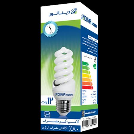 لامپ کم مصرف 12 وات دینا نور