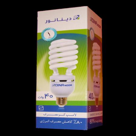 لامپ کم مصرف 40 وات دینا نور