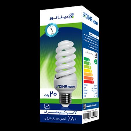 لامپ کم مصرف 20 وات دینا نور