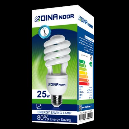 لامپ کم مصرف 25 وات دینا نور