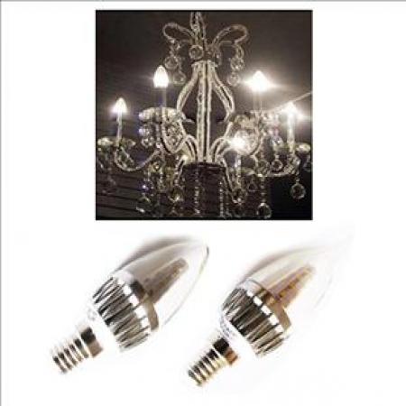 لامپ ال ای دی شمعی اشکی 3 وات افروغ