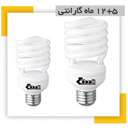 لامپ کم مصرف T2 (تی2) 15 وات بدیع نور