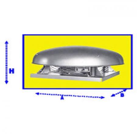 هواکش سقفی آکسیال بدنه فلزي خزر فن