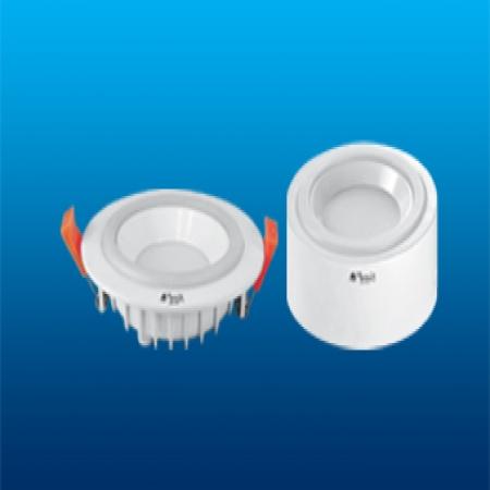 چراغ ال ای دی سقفی توکار SMD سه حالته پارس شعاع طوس