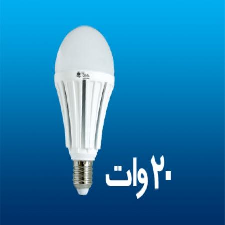 لامپ ال ای دی حبابی 20 وات پارس شعاع طوس