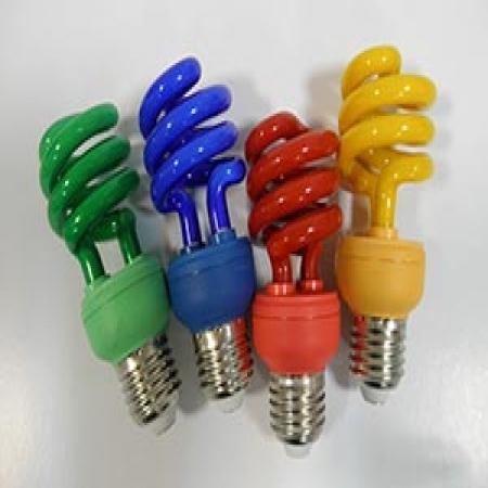 لامپ کم مصرف 15 وات نیم پیچ رنگی برجیس