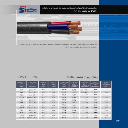 کابل های انعطاف پذیر 0.6 الی 1 ولت سیمکات
