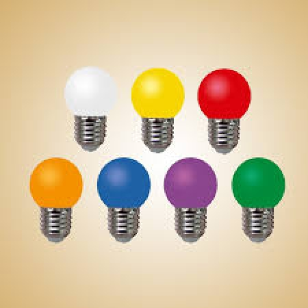 لامپ 1 وات هفت رنگ LED خزرشید