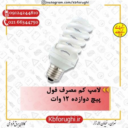 لامپ کم مصرف فول پیچ دوازده 12 وات