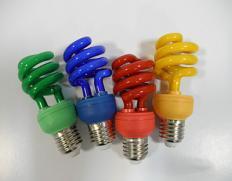 لامپ کم مصرف پیچی رنگی برجیس